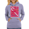 Iconic Christmas Candy Cane Womens Hoodie