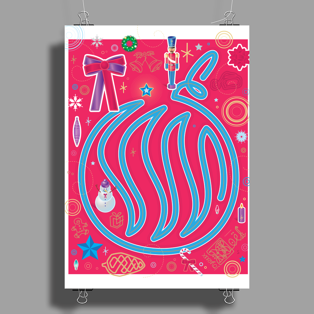 Iconic Christmas Ornament Poster Print (Portrait)