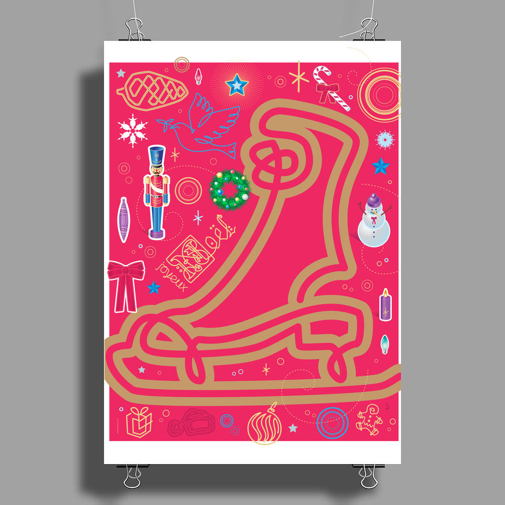 Iconic Christmas Skate Poster Print (Portrait)