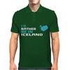 I'D Rather Be In Iceland Mens Polo