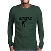 I'D RATHER BE PLAYING POOL Mens Long Sleeve T-Shirt