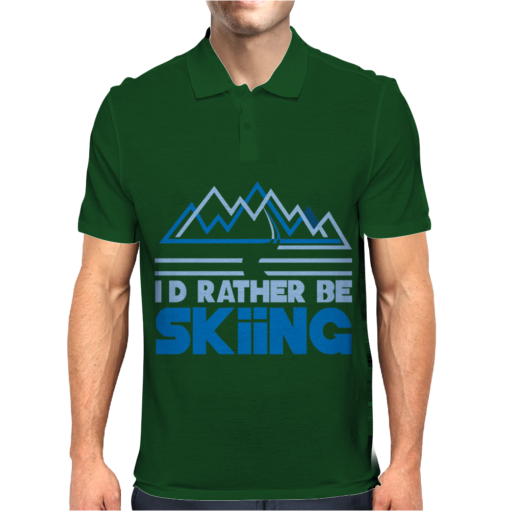 I'd Rather Be Skiing Mens Polo