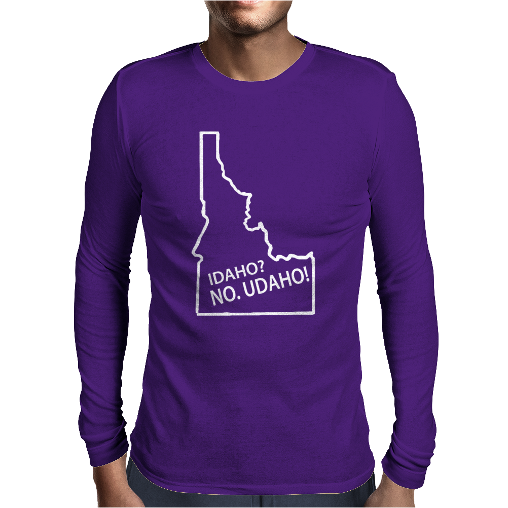 Idaho No Udaho Mens Long Sleeve T-Shirt