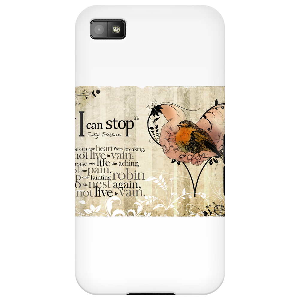 """If I Can Stop"" by Emily Dickinson Phone Case"