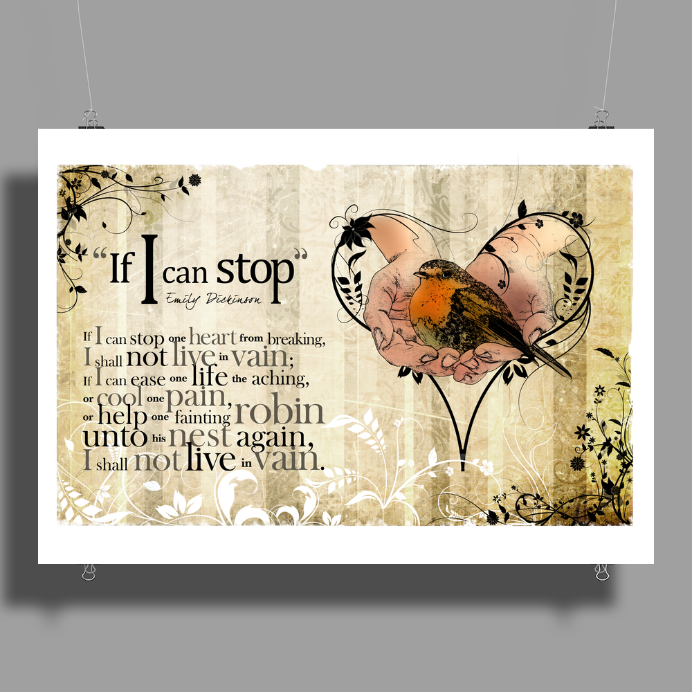 """If I Can Stop"" by Emily Dickinson Poster Print (Landscape)"
