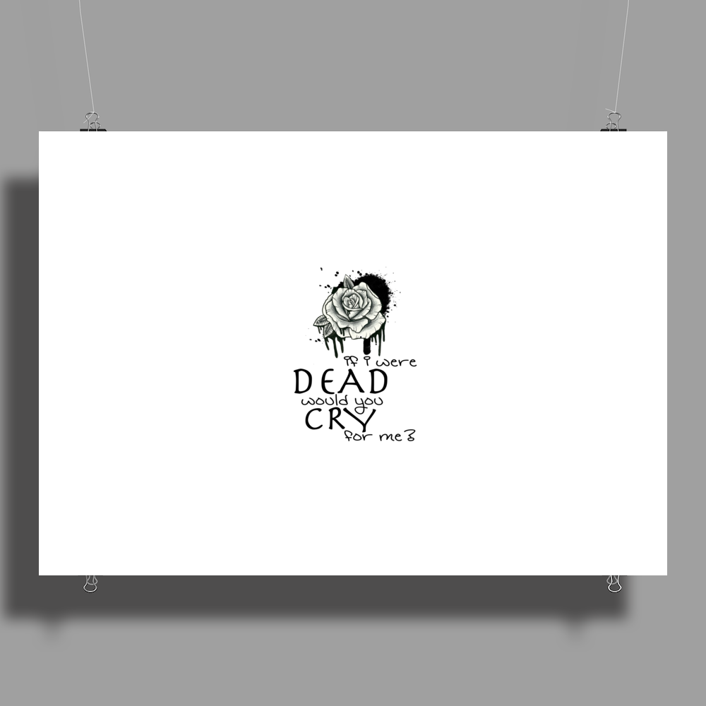 IF I WERE DEAD WOULD YOU CRY FOR ME? Poster Print (Landscape)