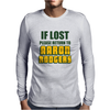 IF LOST PLEASE RETURN TO AARON RODGERS Mens Long Sleeve T-Shirt