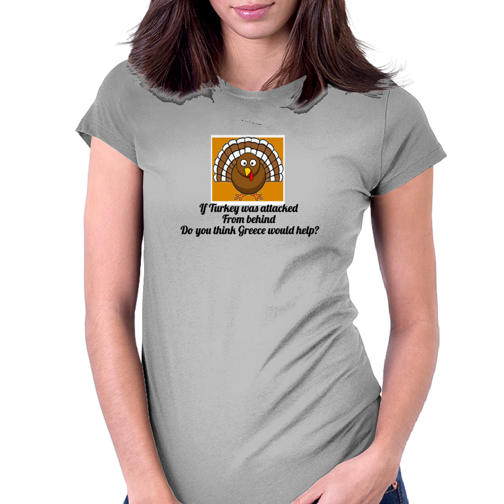 If Turkey was attacked from behind do you think Greece would help Womens Fitted T-Shirt