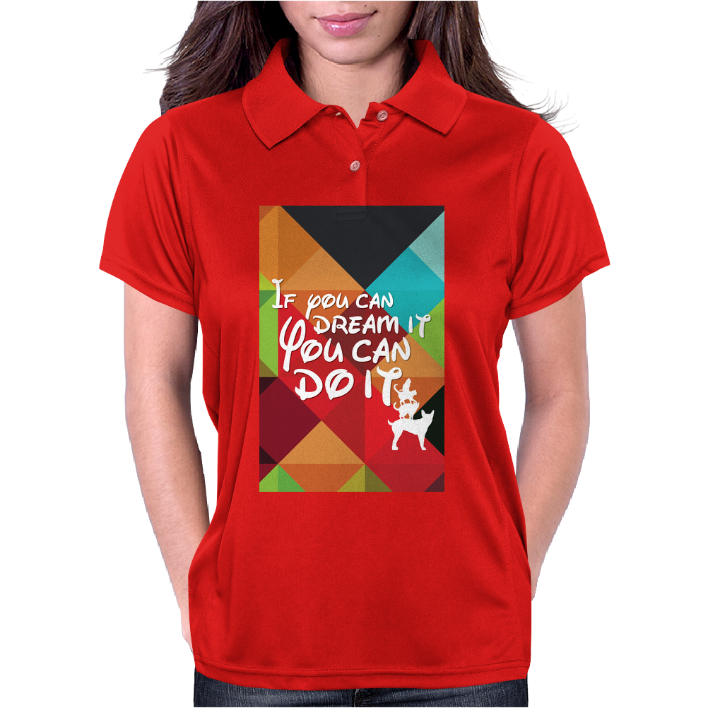 If you can dream it you can do it, animal version Womens Polo