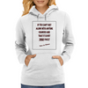 If You Can't Get Along WIth Anyone Womens Hoodie