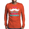 If You Mustache I'm Going To Be A Mommy Mens Long Sleeve T-Shirt
