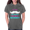 If You Mustache I'm Going To Be A Mommy Womens Polo