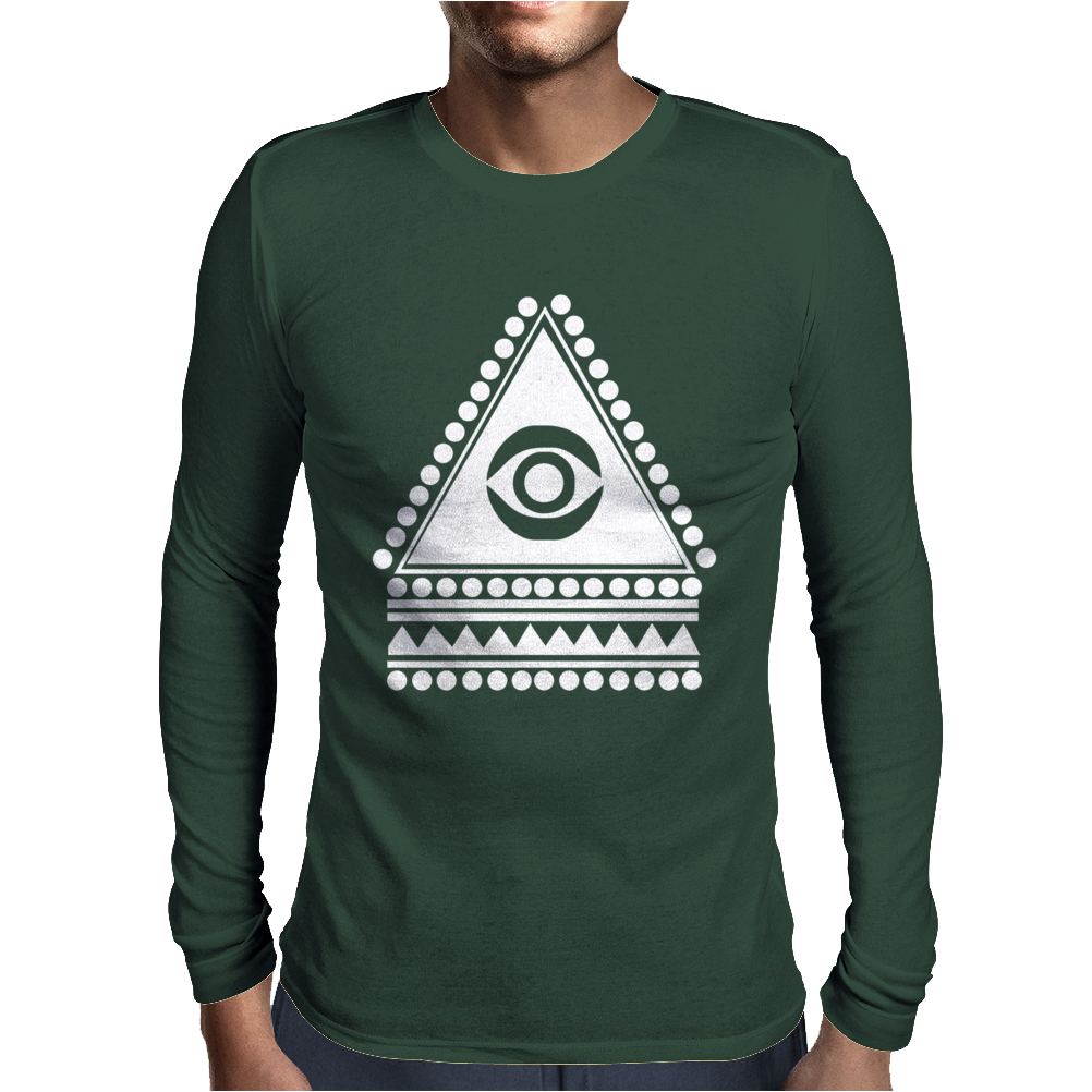 Illuminati Eye Hipster Mens Long Sleeve T-Shirt