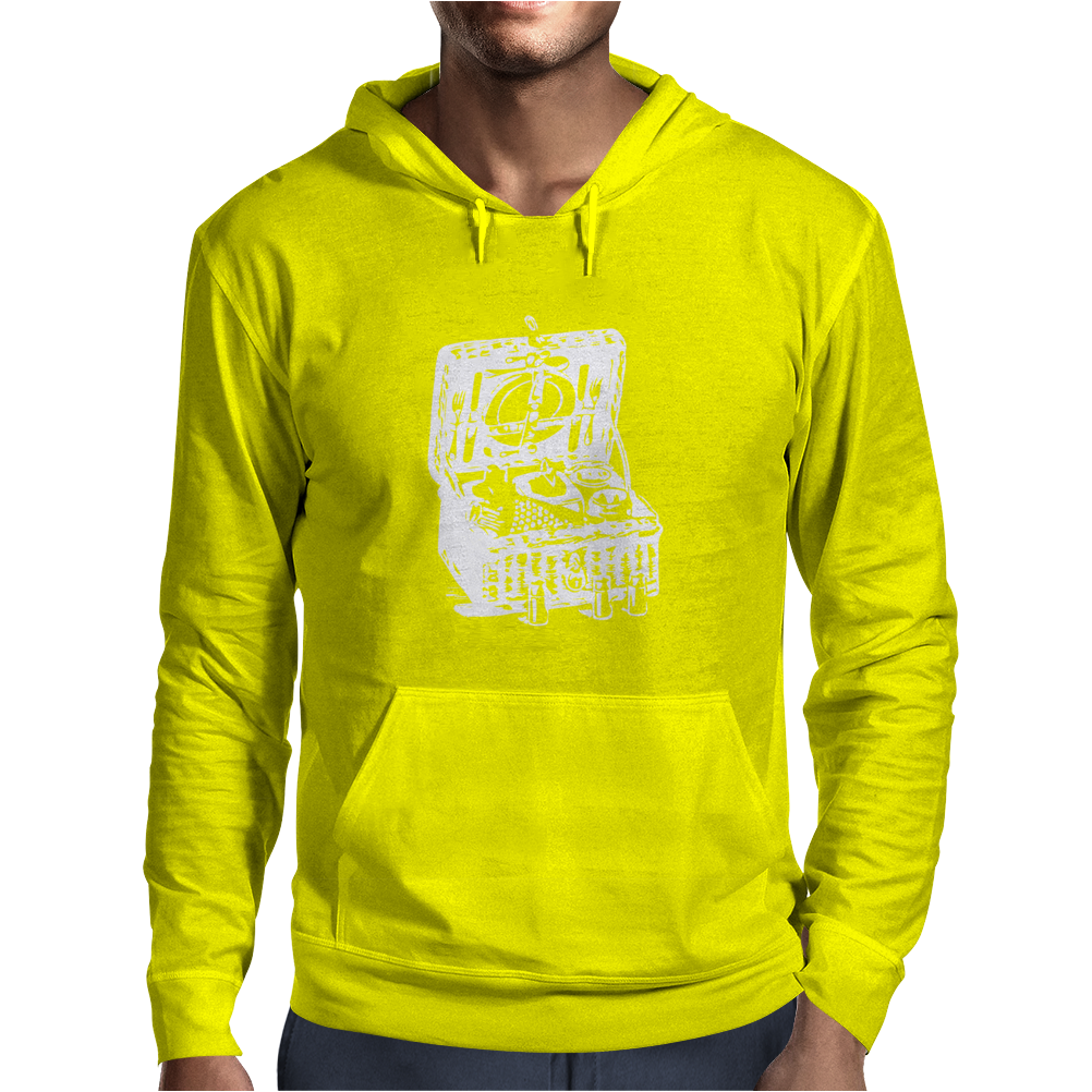 Illustrated Cotton Mens Hoodie