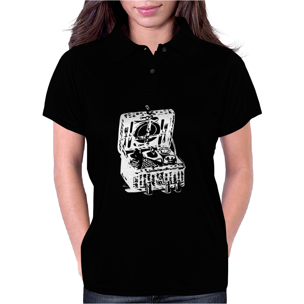 Illustrated Cotton Womens Polo