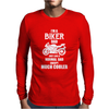 I'm A Biker Dad Mens Long Sleeve T-Shirt