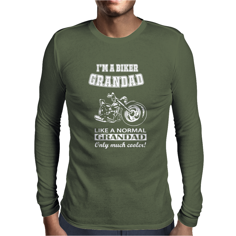 I'm A Biker Grandad Mens Long Sleeve T-Shirt