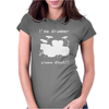 I'm a Drummer Please Shout Womens Fitted T-Shirt