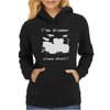I'm a Drummer Please Shout Womens Hoodie