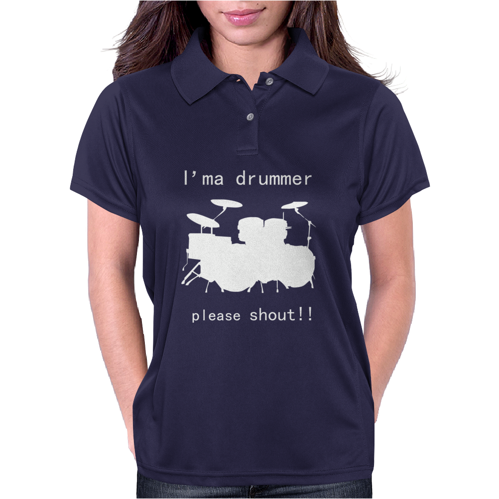 I'm a Drummer Please Shout Womens Polo