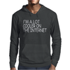 I'M A LOT COOLER ON THE INTERNET Mens Hoodie