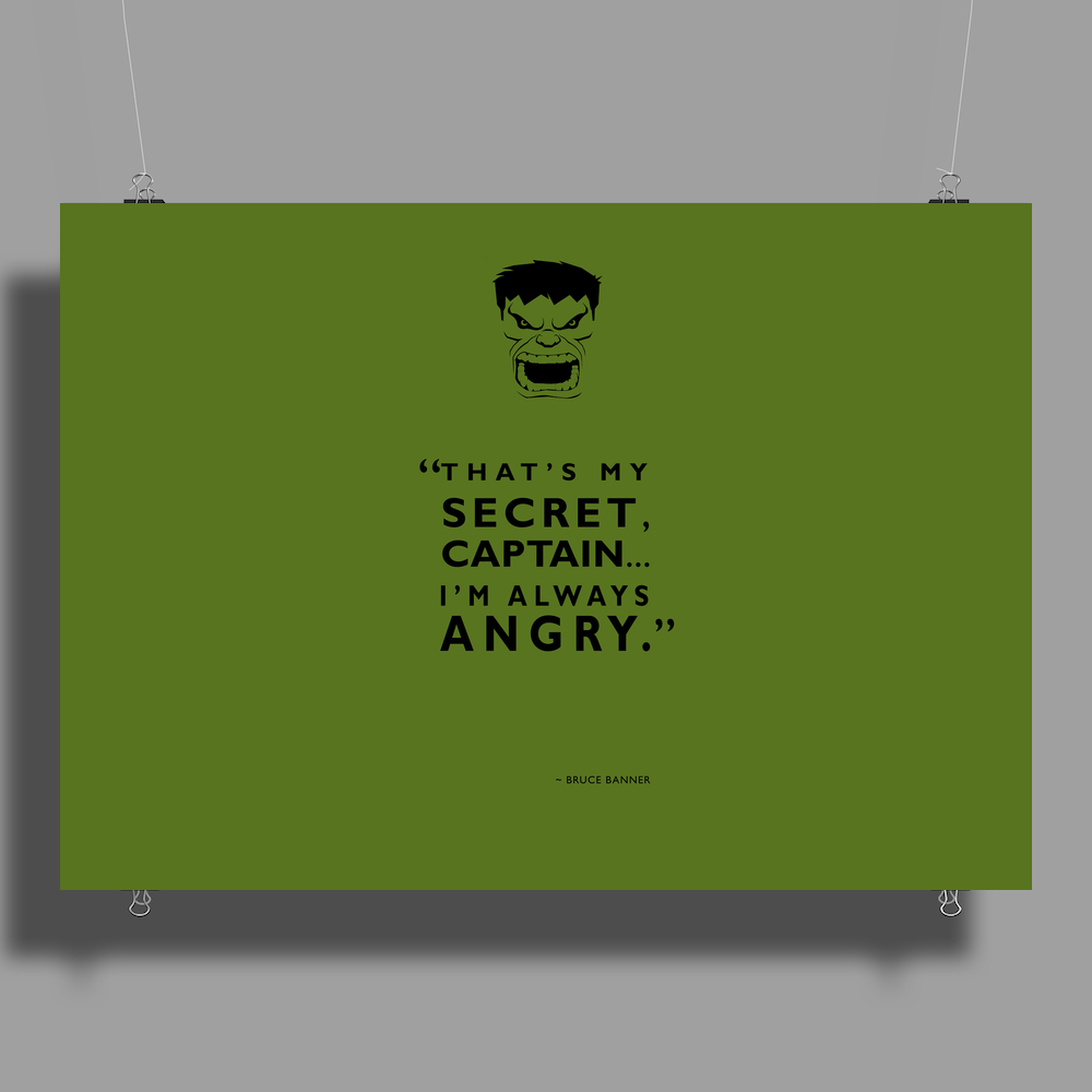 I'm Always Angry Poster Print (Landscape)