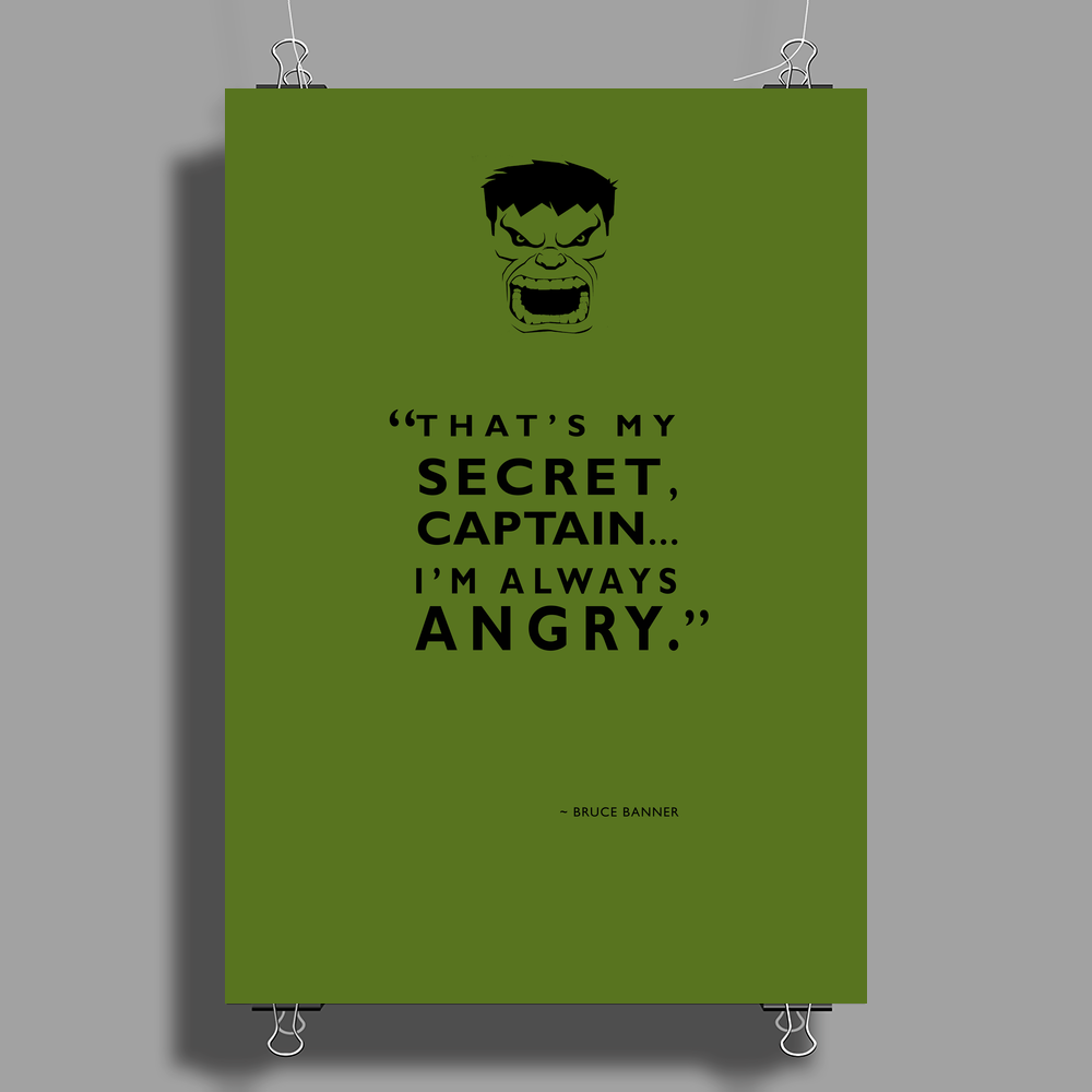 I'm Always Angry Poster Print (Portrait)