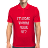 I'M DEAD WANNA HOOK UP AMERICAN HORROR STORY Mens Polo