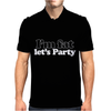 I'm Fat Let's Party, Mens Funny Mens Polo