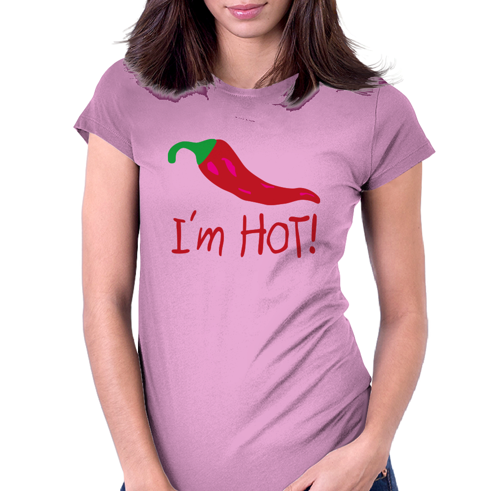 I'm hot! Womens Fitted T-Shirt