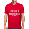 Im Not A Terrorist Just Bearded Mens Polo
