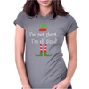 I'm Not Short I'm Elf Sized Womens Fitted T-Shirt