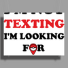 I'm Not Texting I'm Looking For Pokemon Poster Print (Landscape)