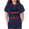 I'm Not Texting I'm Looking For Pokemon Womens Polo