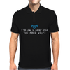 I'm only here for the wifi internet - coffee cafe web geeky tech guy tee Mens Polo