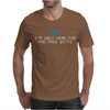I'm only here for the wifi internet - coffee cafe web geeky tech guy tee Mens T-Shirt
