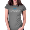 I'm only here for the wifi internet - coffee cafe web geeky tech guy tee Womens Fitted T-Shirt