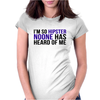 I'm so hipster noone has heard of me Womens Fitted T-Shirt
