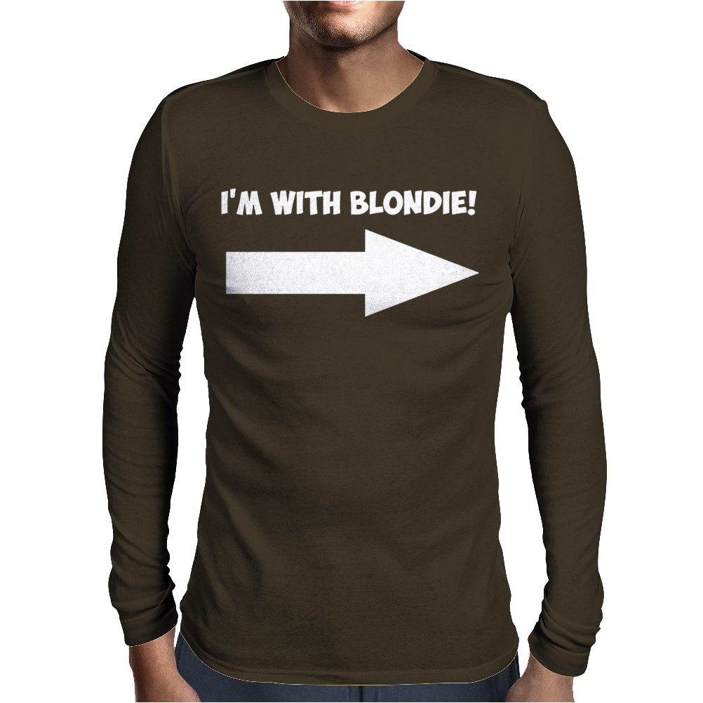 I'M WITH BLONDIE Mens Long Sleeve T-Shirt