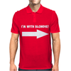I'M WITH BLONDIE Mens Polo