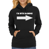 I'M WITH BLONDIE Womens Hoodie