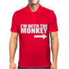 IM WITH MONKEY Mens Polo