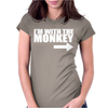 IM WITH MONKEY Womens Fitted T-Shirt
