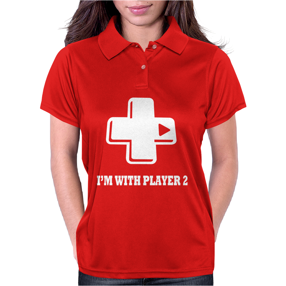 I'm With Player 2 Womens Polo