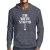 I'm With Stupid. Mens Hoodie