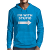 I'M WITH STUPID Mens Mens Hoodie