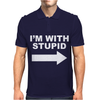 I'M WITH STUPID Mens Polo
