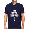 I'm With Stupid. Mens Polo