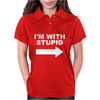 I'M WITH STUPID Mens Womens Polo