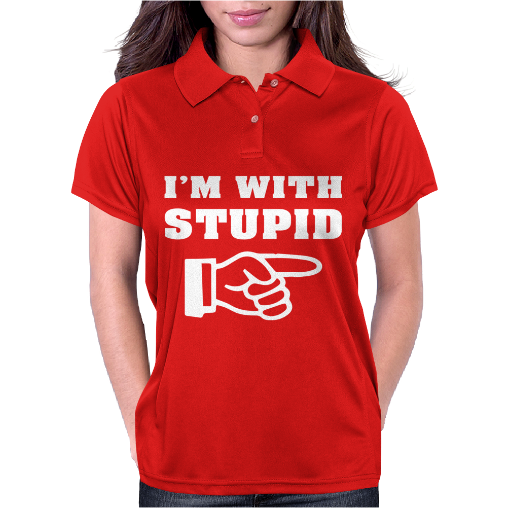 I'm With Stupid Womens Polo